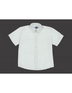 Camisa Colegial Manga Corta Blanca Rutilante