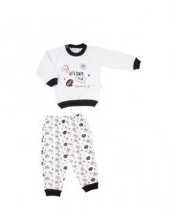 Pijama bebe invierno Naranjo