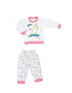 Pijama invierno beba Naranjo