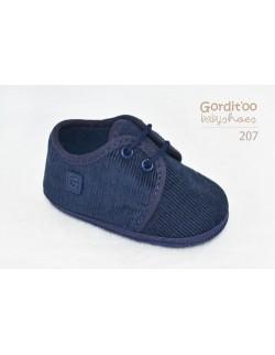 Zapato bautismo azul bebé Gorditoo