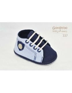 Zapatilla azul de rayas bebe Gorditoo