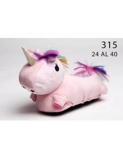Pantuflas unicornio con luz