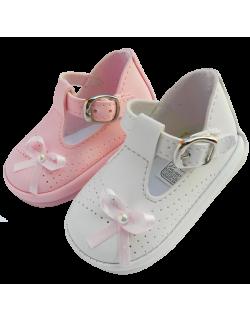 Guillermina blanca con moño Pepes Bebes
