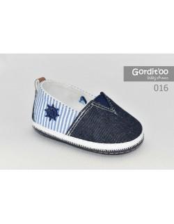 Alpargata jean con rayas bebé Gorditoo