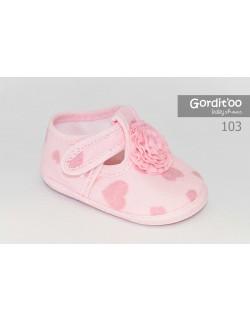 Guillermina beba rosa corazones Gorditoo