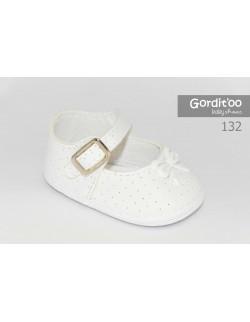Zapato beba perforado blanco Gorditoo