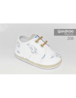 Zapatito bebé blanco con beige Gorditoo