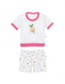 Pijama estampada beba Naranjo