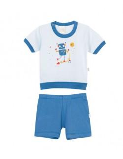 Pijama estampada bebe Naranjo
