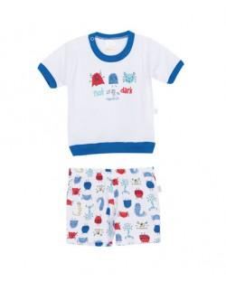 Pijama bebe estampado Naranjo