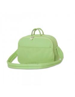 Bolso doble fuelle y bolsillo plaqué verde - Pilim
