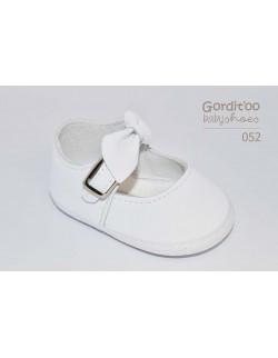 Zapato beba blanco con moño Gorditoo